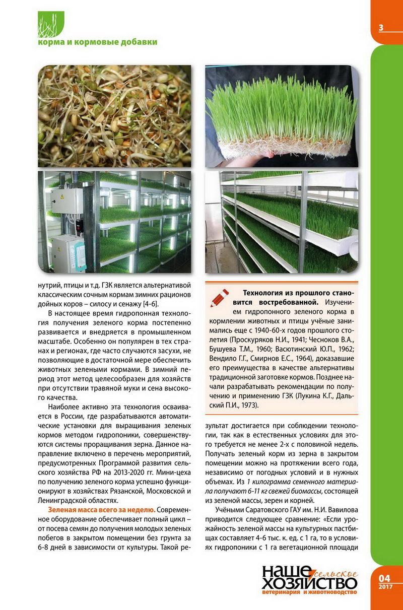 Зеленый гидропонный корм 2